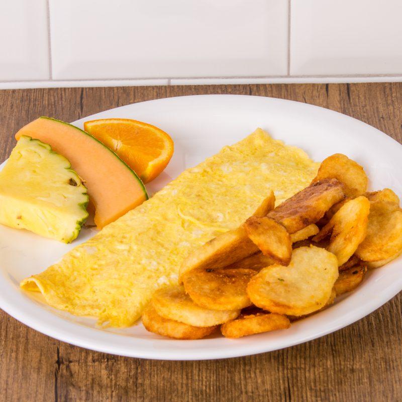 Omelette au fromage fondu